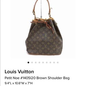 Louis Vuitton Petit Noe (Authentic ) gently used .